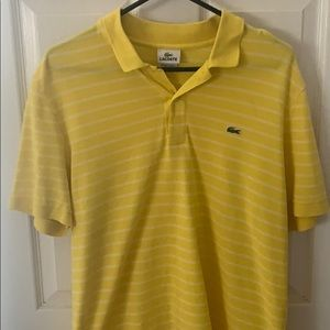 Yellow Lacoste polo